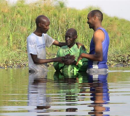 Baptism at Mutenderi, Rwanda