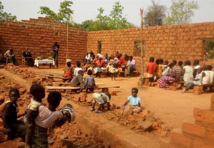 Meeting in Mudunyama, Zambia
