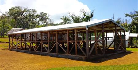 Rebuilt hall in Green Point, Tanna, Vanuatu following cyclone with support of the Mission fund.