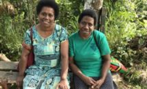 Sisters Milika (Fiji) and Jill (Malekula Vanuatu) at a recent outreach in Port Vila