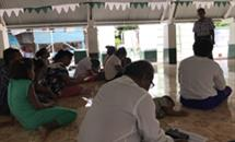 Fellowship meeting in Kiribati