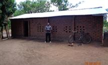 Hall recently built in Chindana, Mozambique.
