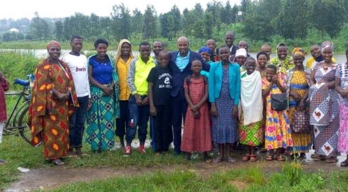 Kabarore baptisms in Rwanda