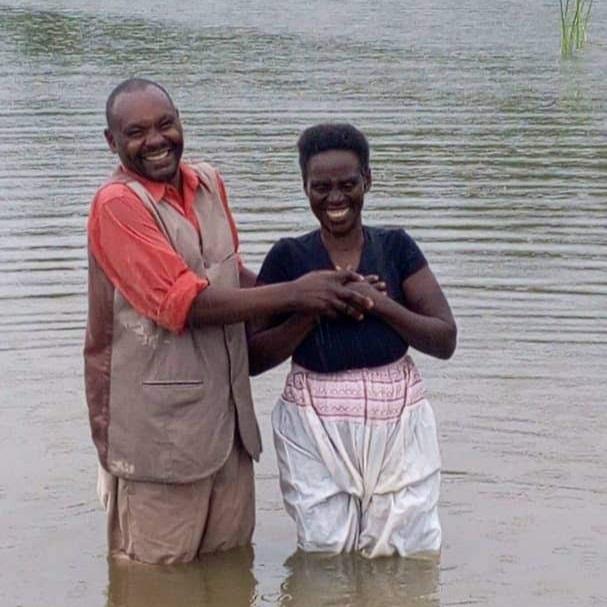 Baptism in Kabarore, Rwanda