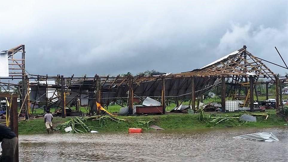 Lautoka hall damaged by cyclone