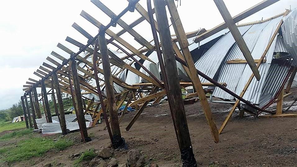 Lautoka hall cyclone damaged
