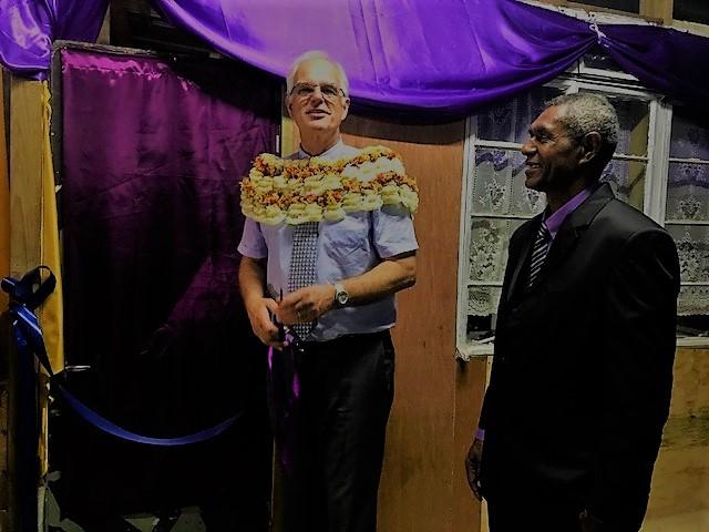 Pastor Paul Nobel and Pastor Tevita at the opening