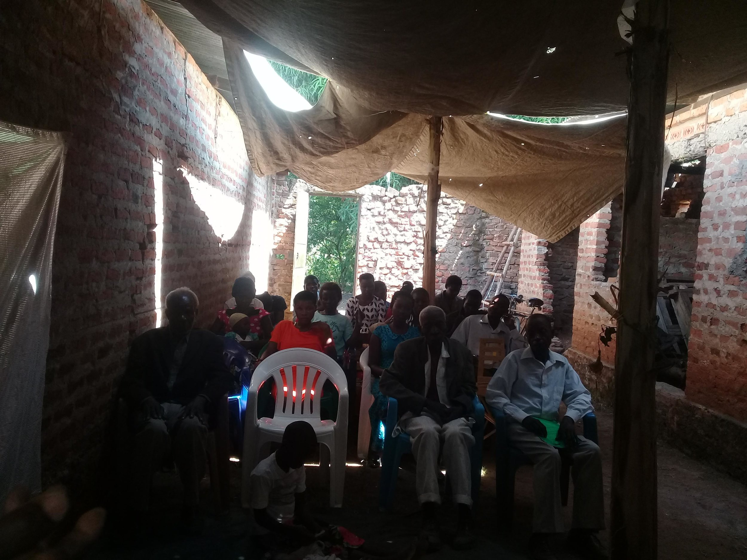Fellowship meeting in Sironko, Uganda