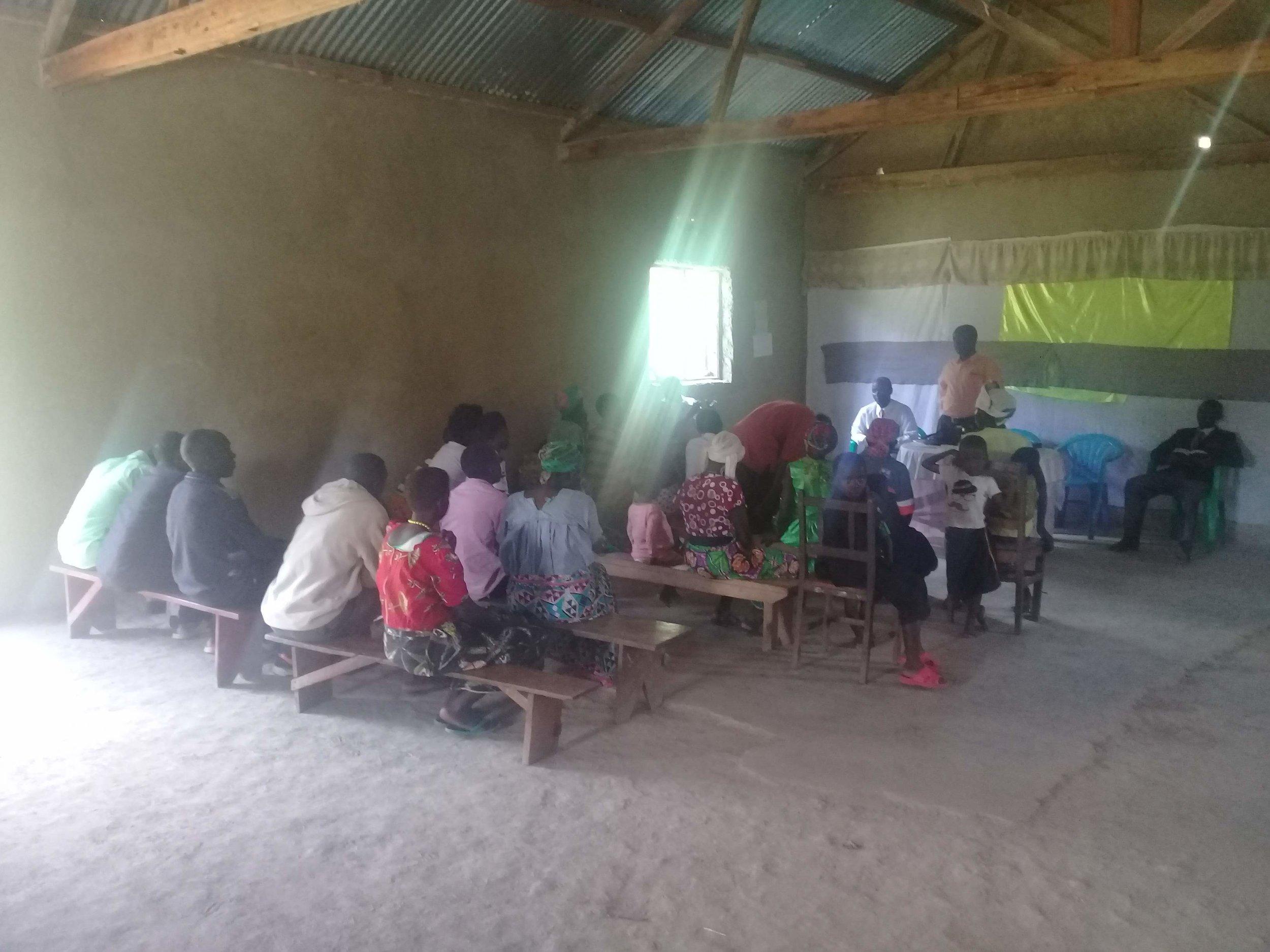 Meeting in Kasaba, Uganda