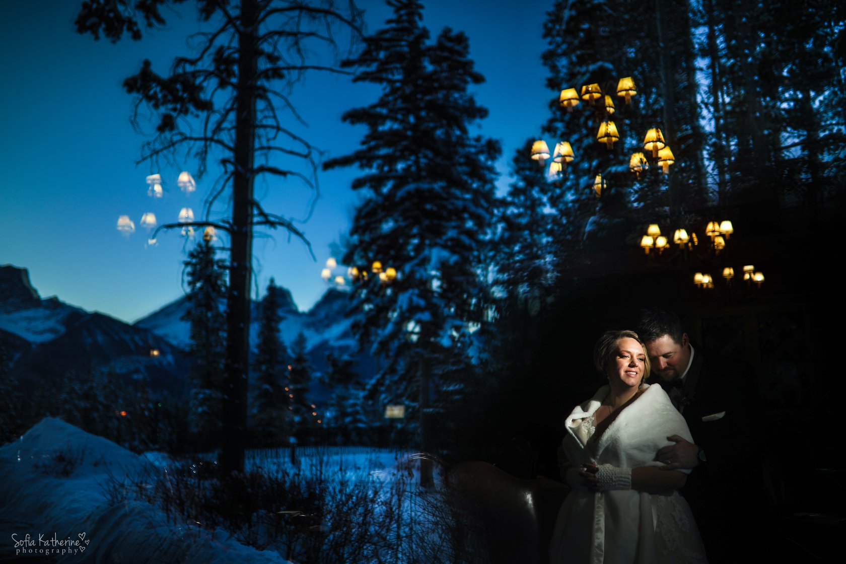 Alicia & ShaunSILVERTIP CanmoreNew Year's Eve 2017 - We had Sofia do our wedding on New Years Eve, in Canmore. Her and her assistant Paulina went out of their way to make us feel comfortable as possible. Sofia was a blast to get to know, and took amazing shots during the engagement shoot we did in Calgary, and during the fireworks during the reception. It was amazing to see her work, and her thought process behind every shot she takes. I can't stress enough the quality of her work enough. I would recommend her in a heart beat.