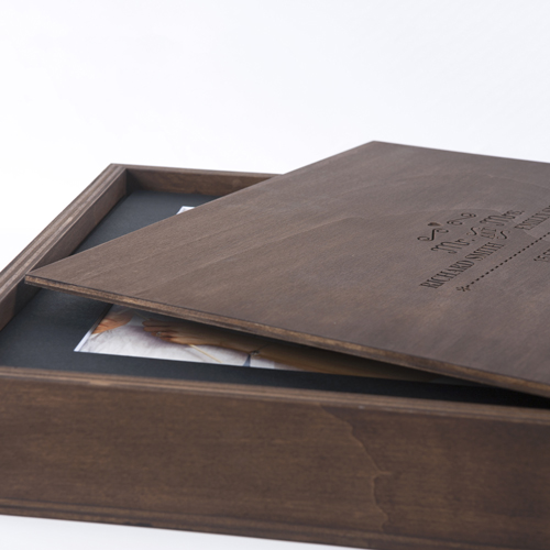 WOOD BOX - Engraved oak wooden box containing your favorite 50 images from your gallery. Images are printed on fine art silk papers bordered in a black or white mat.$600 CAD plus 5% gst