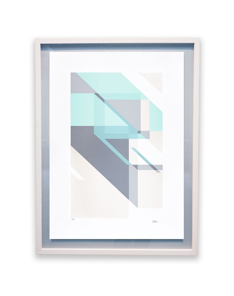 'Flux' Sek2, Screen-print, edition of 30.