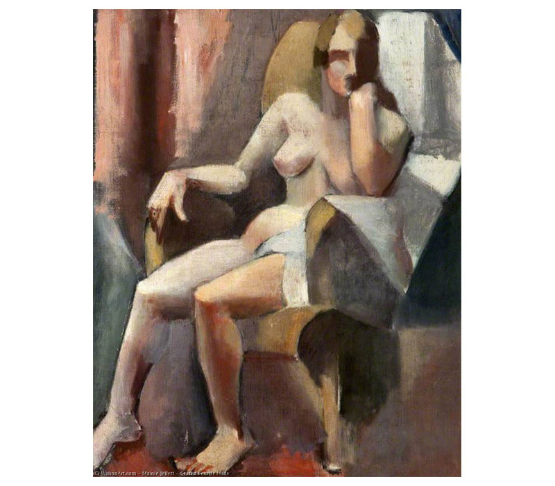 'Seated Female Nude', Oil On Canvas, 56 x 46 cm, 1922 ·   Ulster Museum (Ireland)
