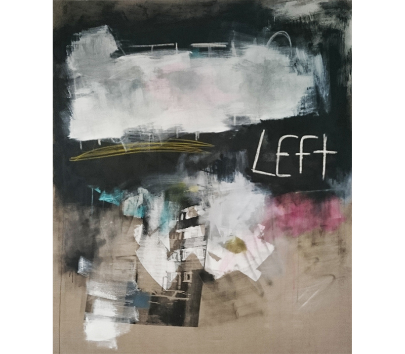 'Everything and Nothing', Silkscreen, gesso, oil crayon & acrylic polymer on linen, 160 x 190 cm. Photo credit:  SO Fine Art Editions