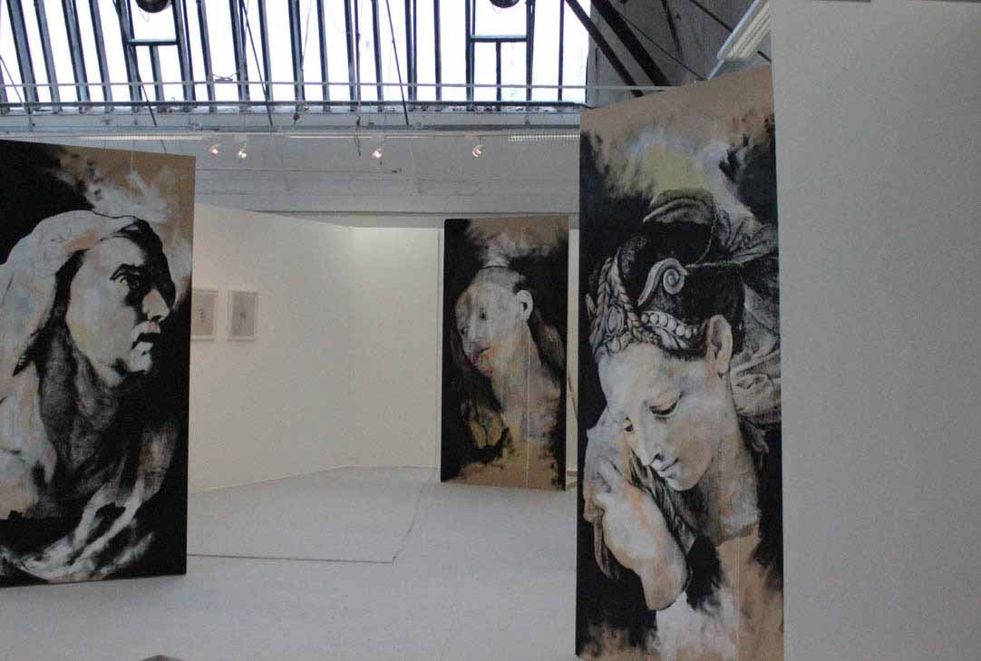A view of Icon Study Series, NCAD Graduate Show. Photo credit:  Irish Arts Review