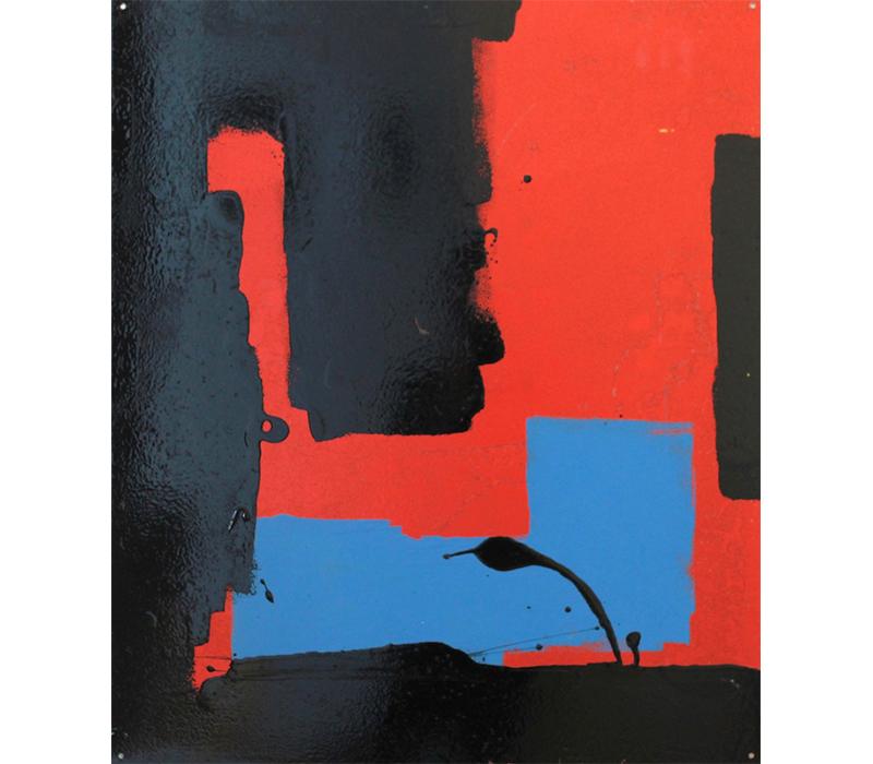 'Crumlin', Oil and emulsion on steel, 64 x 76 cm. Photo credit:  SO Fine Art