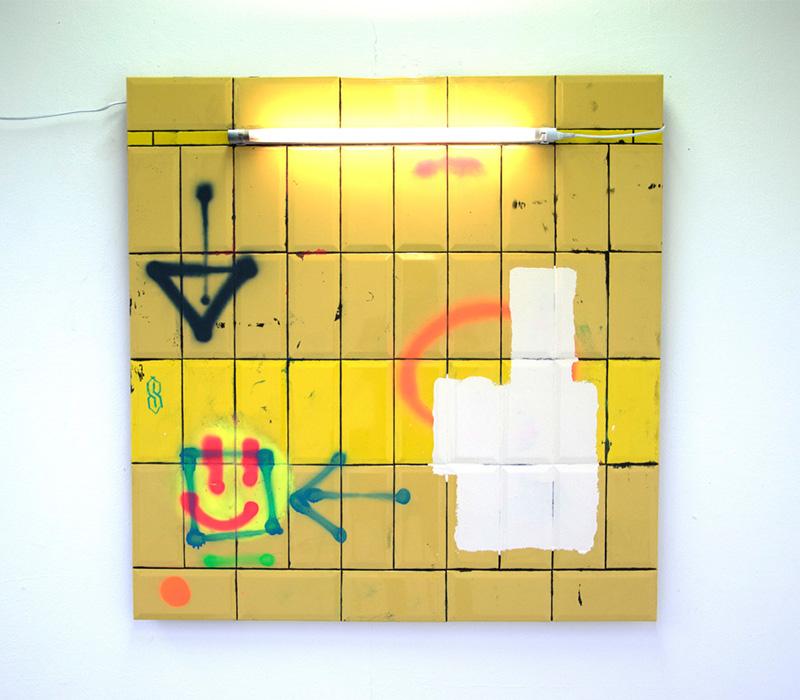 'Maryhill', Mixed media on ply, 105 x 100 cm. Photo credit:  Stephen Burke