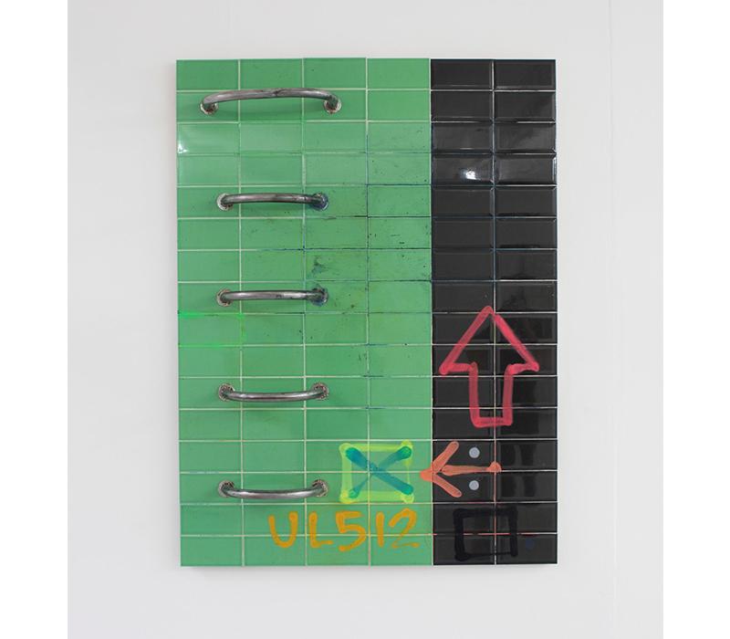 'SSS/SY', Mixed media on tile, 160 x 120 cm. Photo credit:  Stephen Burke