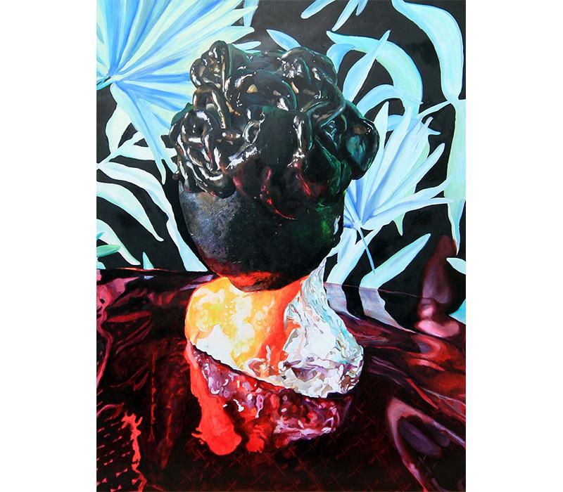 'Typhonian Highlife', 2017, Oil on Panel, 60 x 80 cm. Photo credit:  Eleanor McCaughey