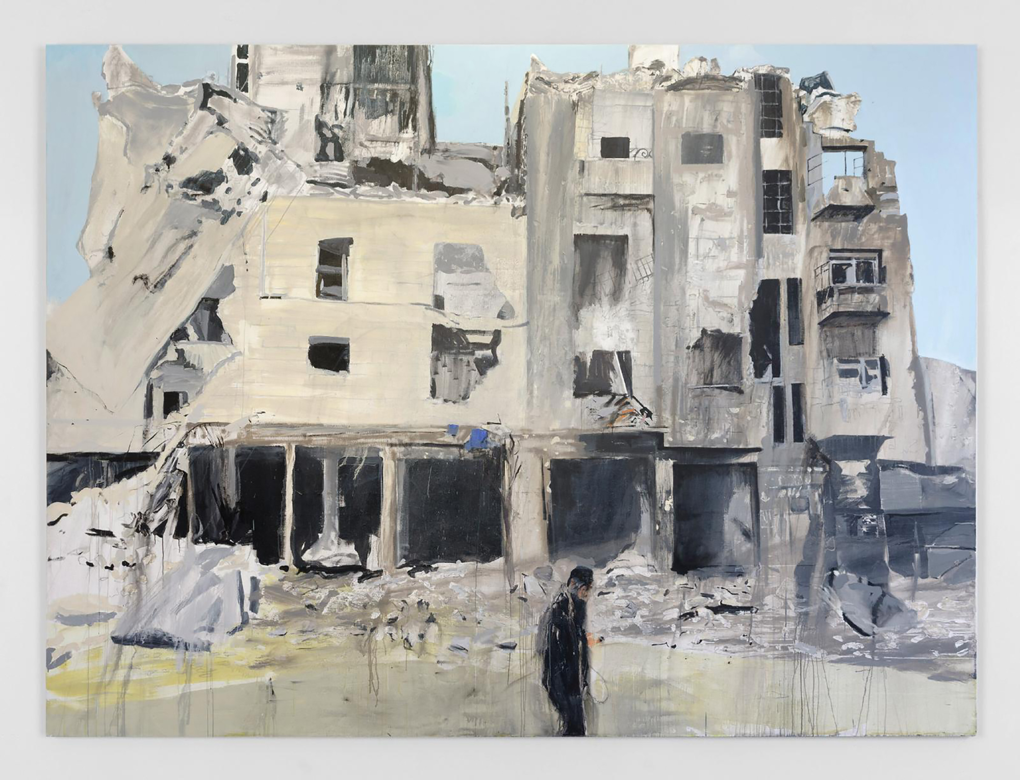 Aleppo 5 , 2017, acrylic on linen, 387 x 290 cm. Photo credit:  Kerlin Gallery