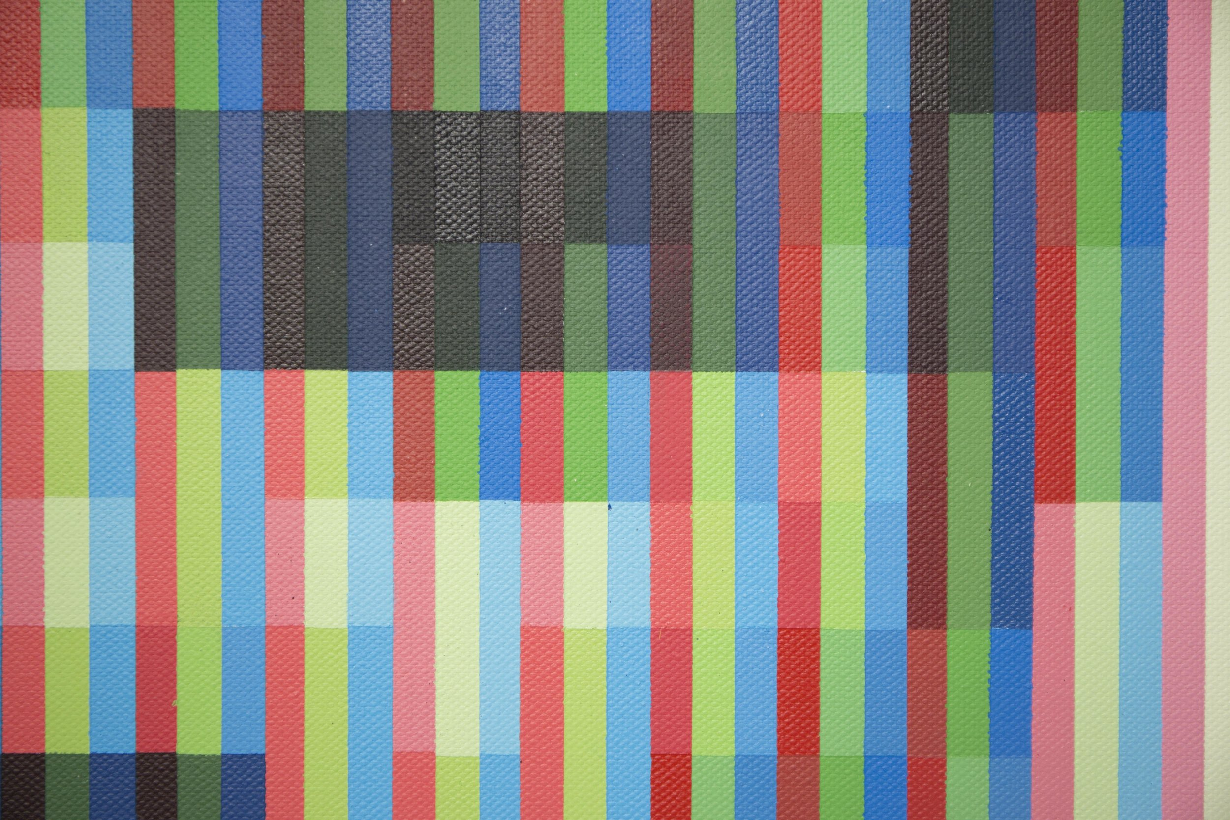 'DI_06' (Detail), 2019, Spray Paint on Canvas, 70 x 100 cm, Atelier Maser.