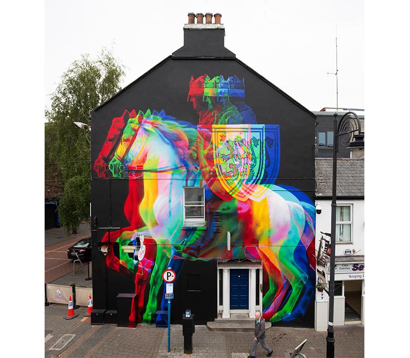 'Edward Bruce', 2019, Spray Paint, Seek Festival Dundalk. Photo credit:  Aches