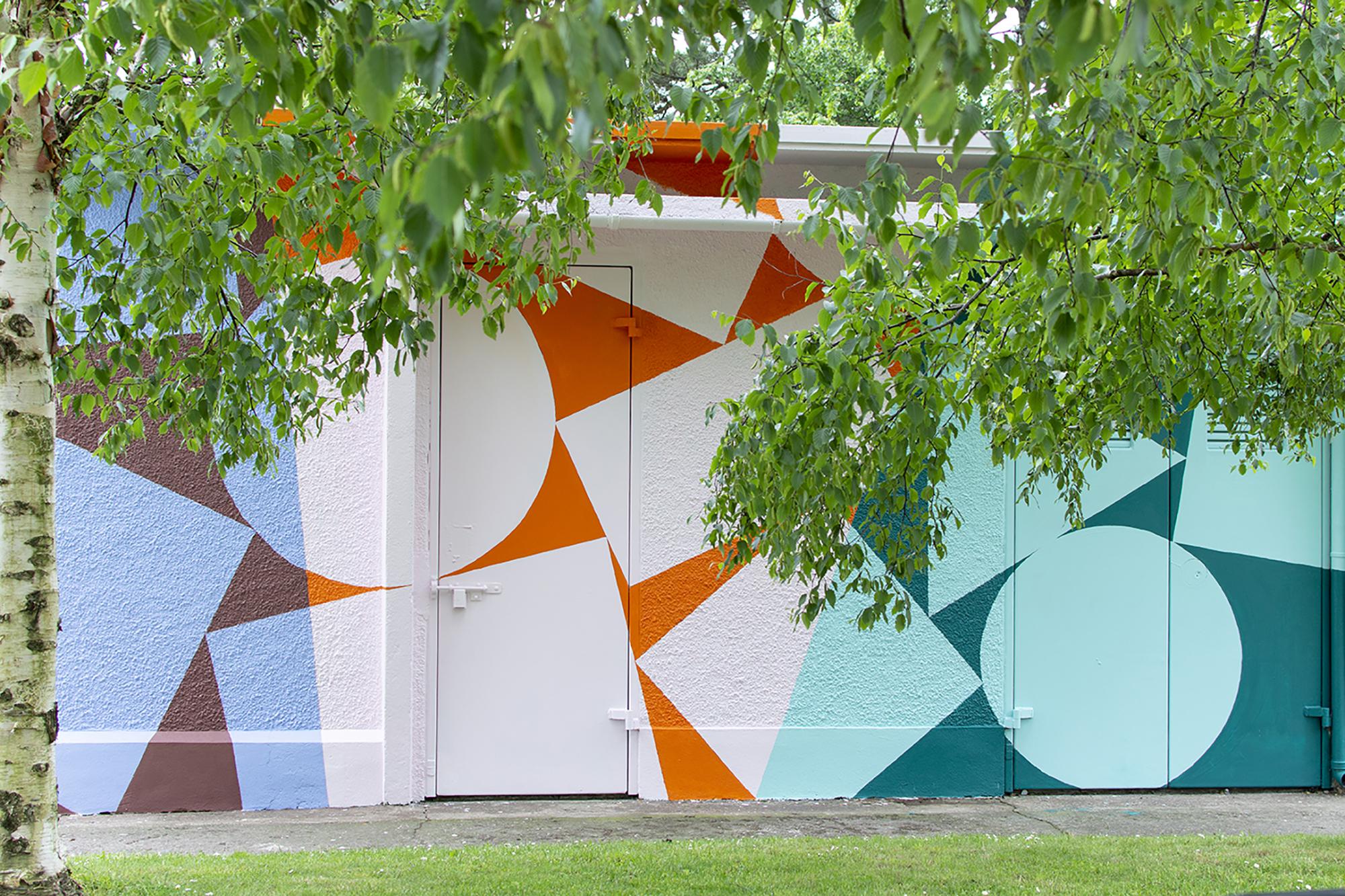 'Bandfield', 2019, Site-specific Mural, Cork City. Photo credit:  Deirdre Breen