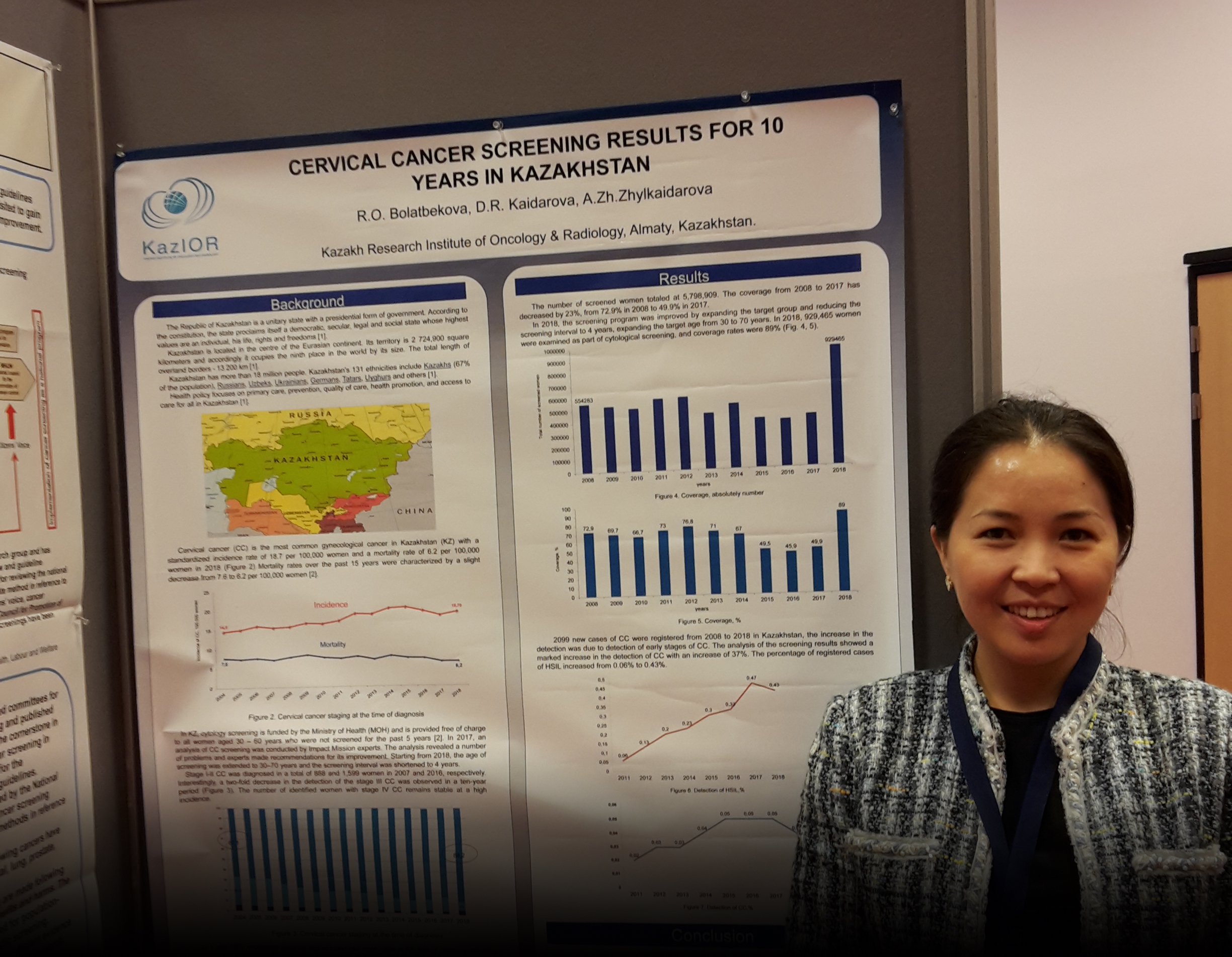 Kazakhstan cancer screening presentation at the ICSN Conference in the Netherlands, 2019