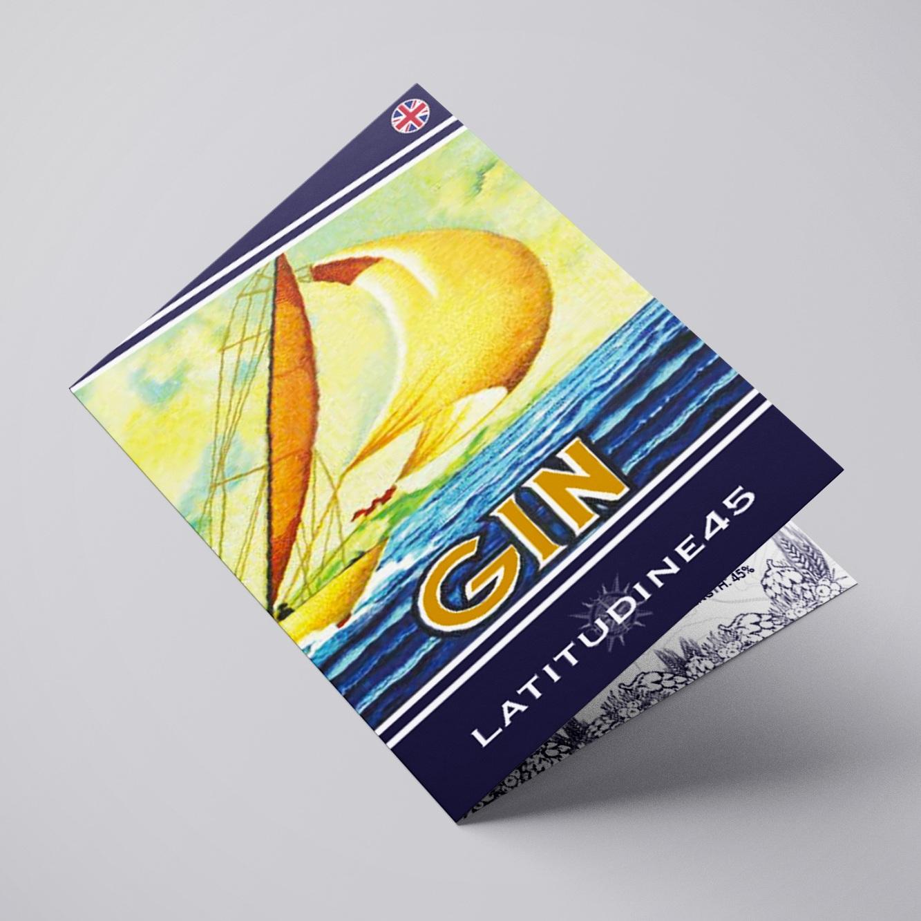 Ideazione e Realizzazione Leaflet Gin Latitudine 45