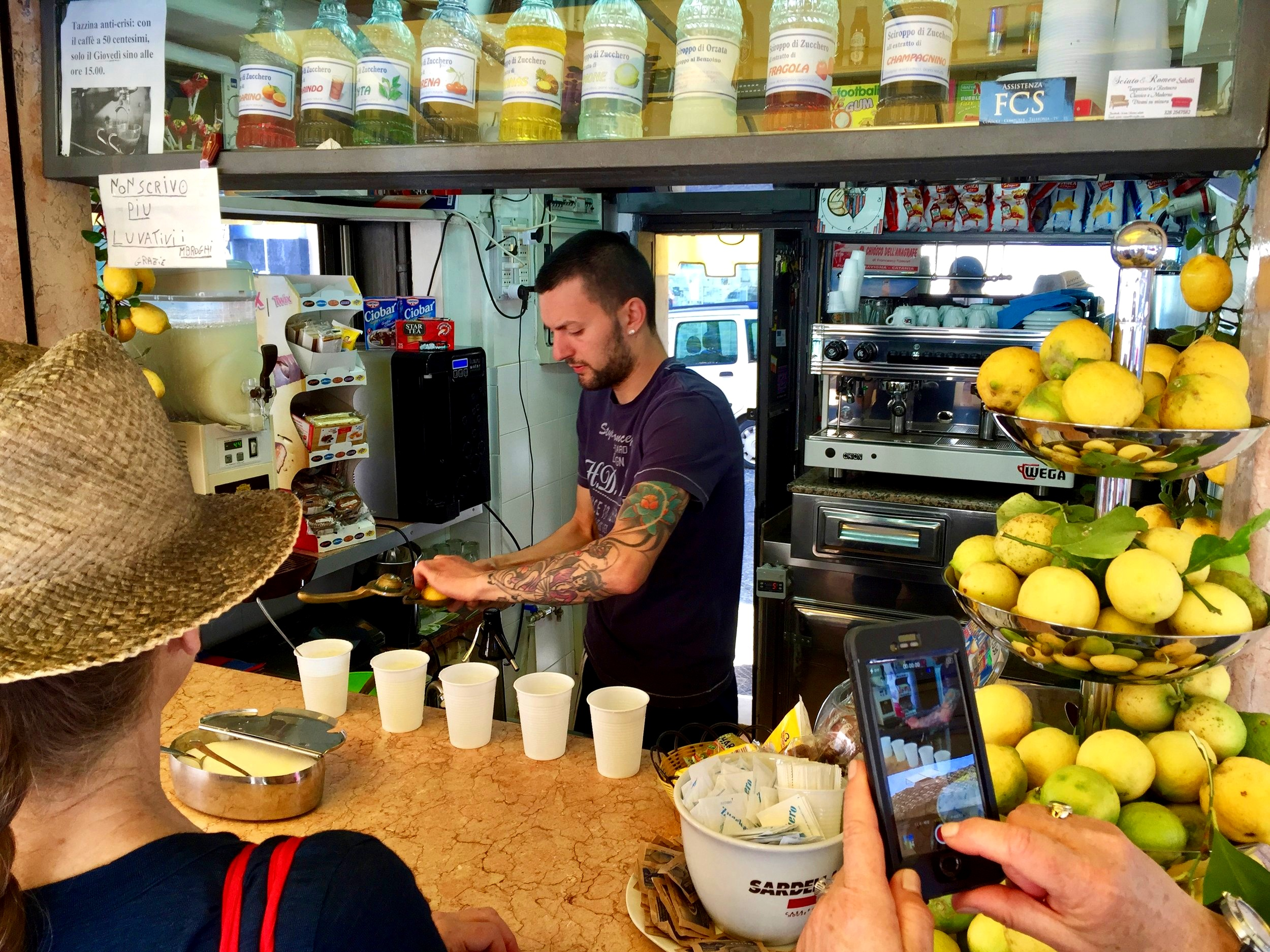 Lemon juice, soda and salt - Kiosk in Catania