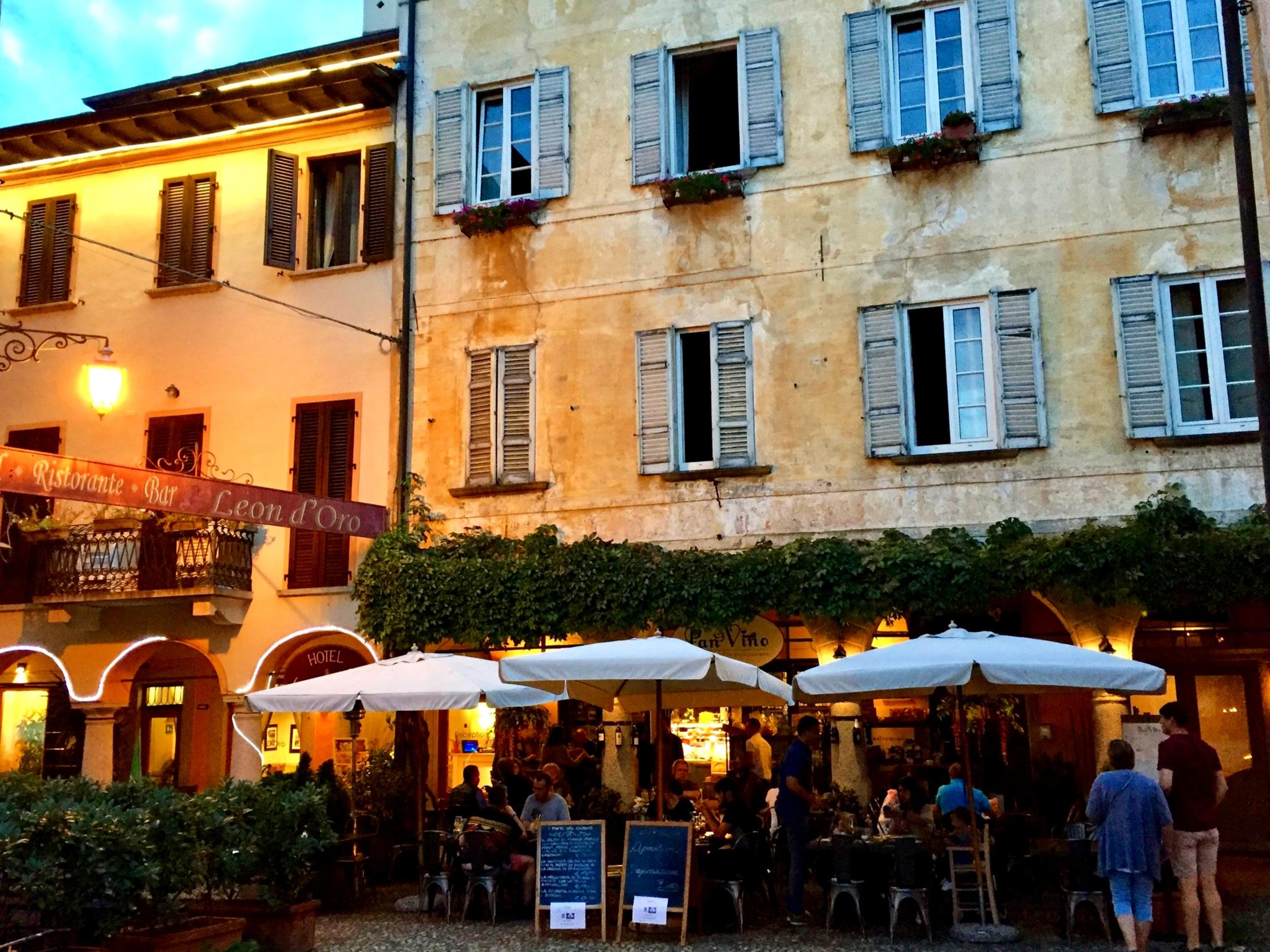 Summer dinner in the piazza - Piedmont Lake region