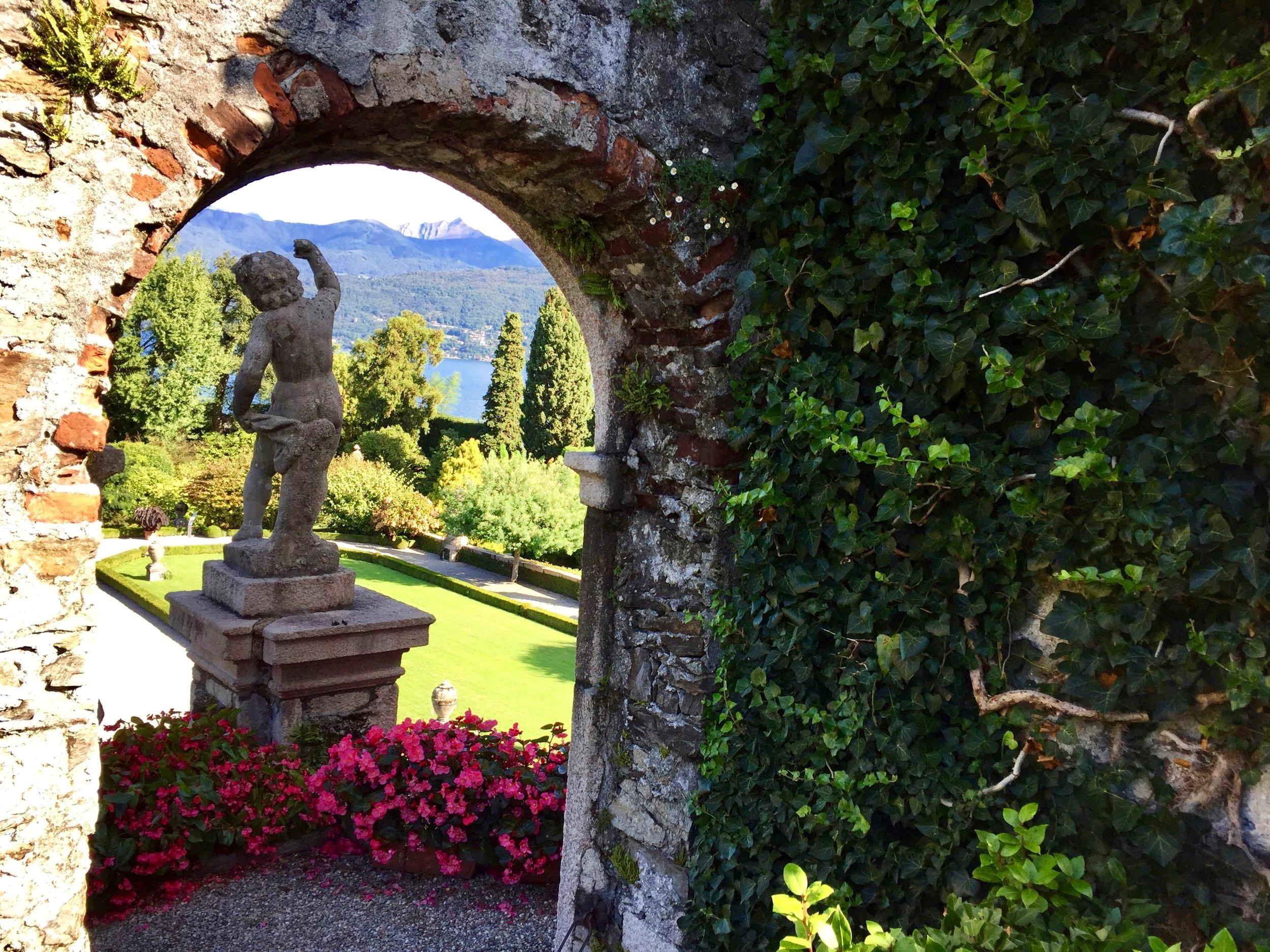 Lush botanical Ligurian gardens