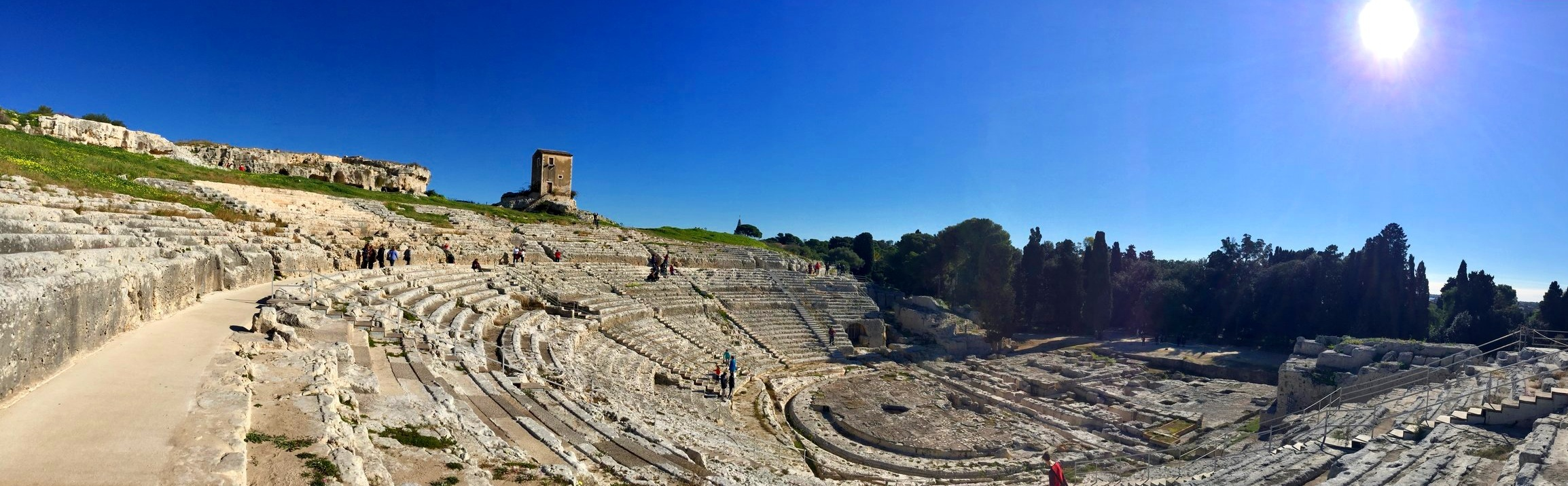 The Greek theatre of Syracuse, built in the 5th century BC and renovated in the Roman period - Unesco World Heritage Site of Syracuse