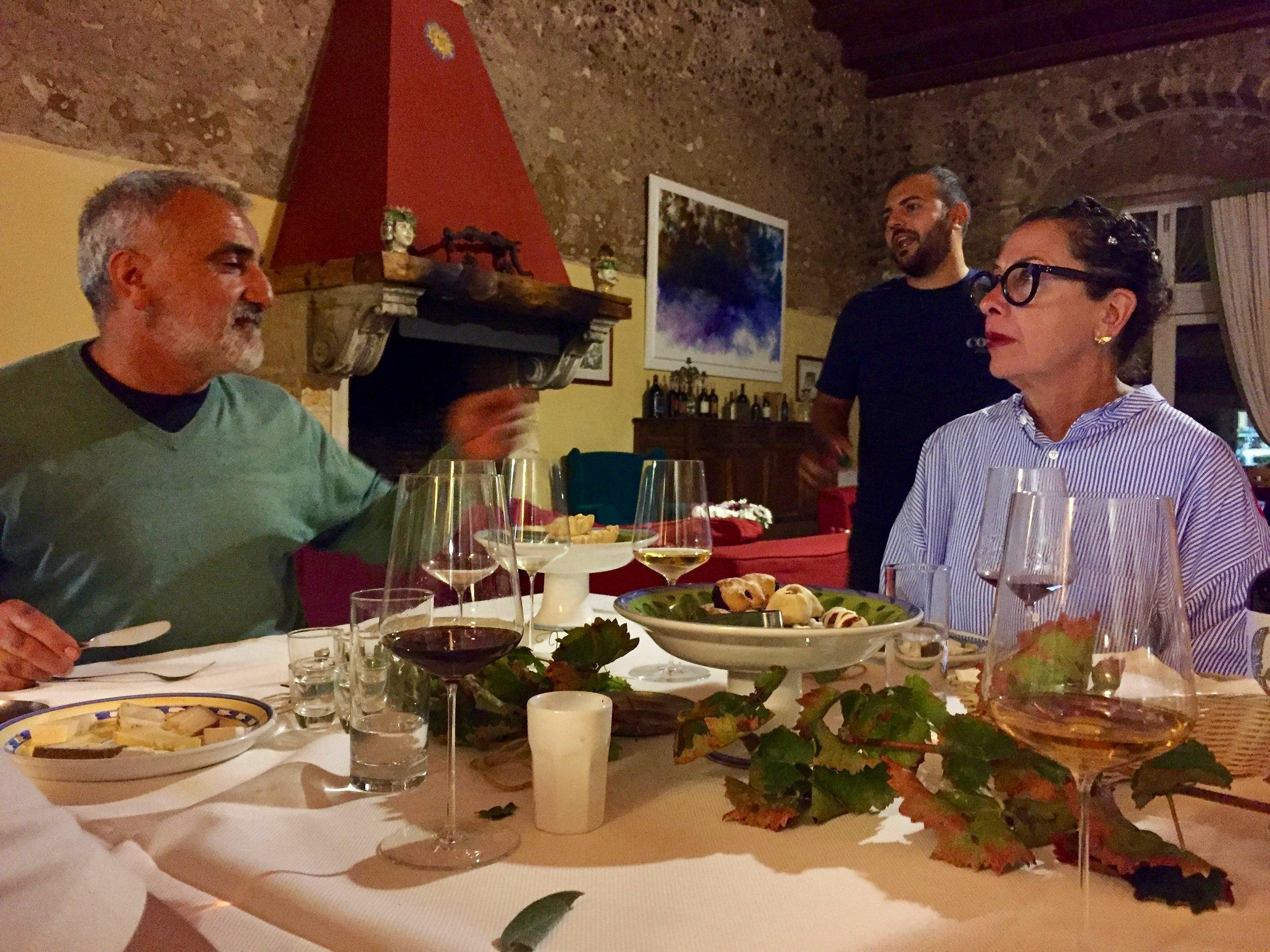 Talking, drinking, tasting Sicily - Nancy Silverton and Giusto Occhipinti
