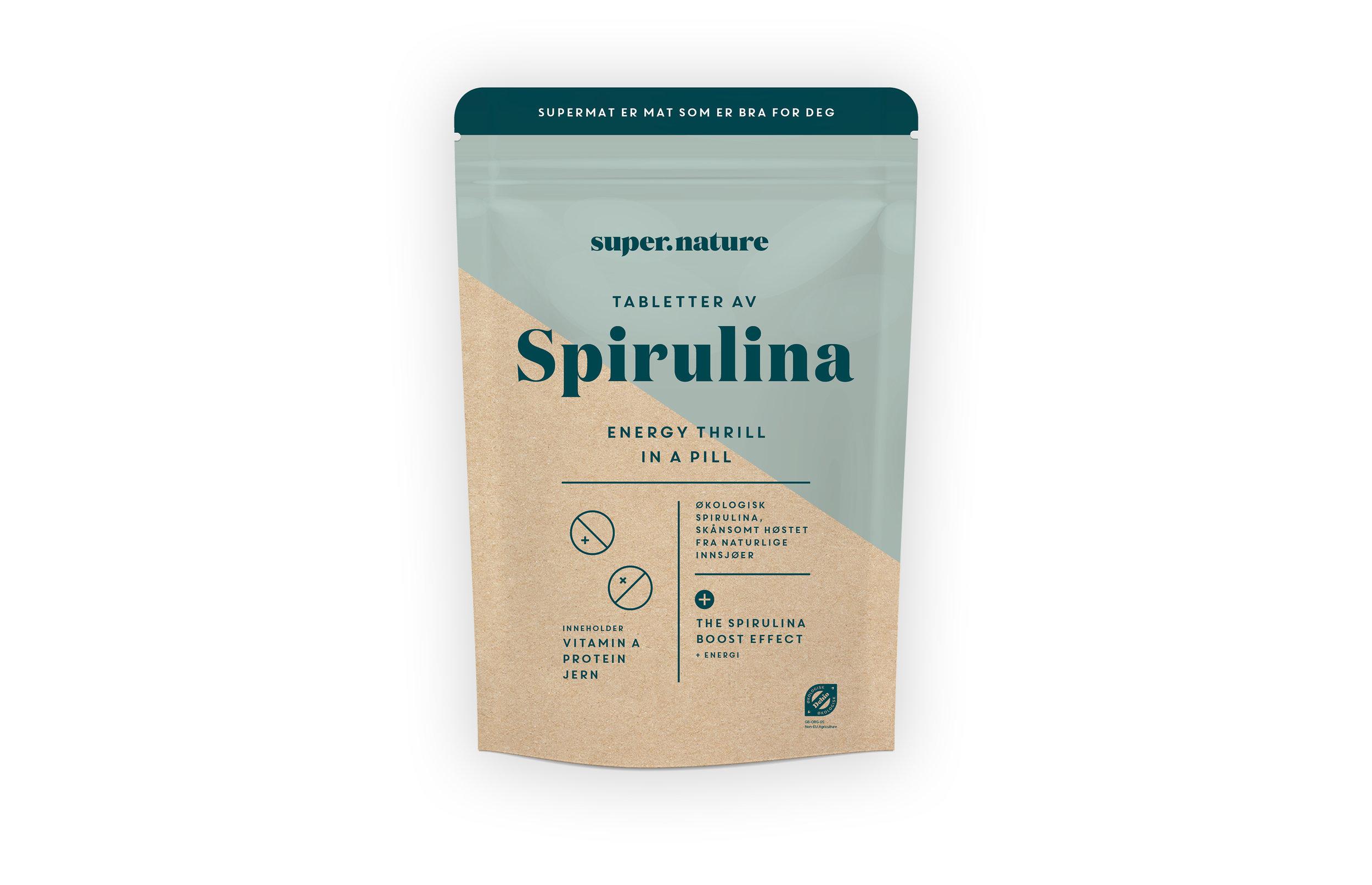 Spirulina-tabletter -