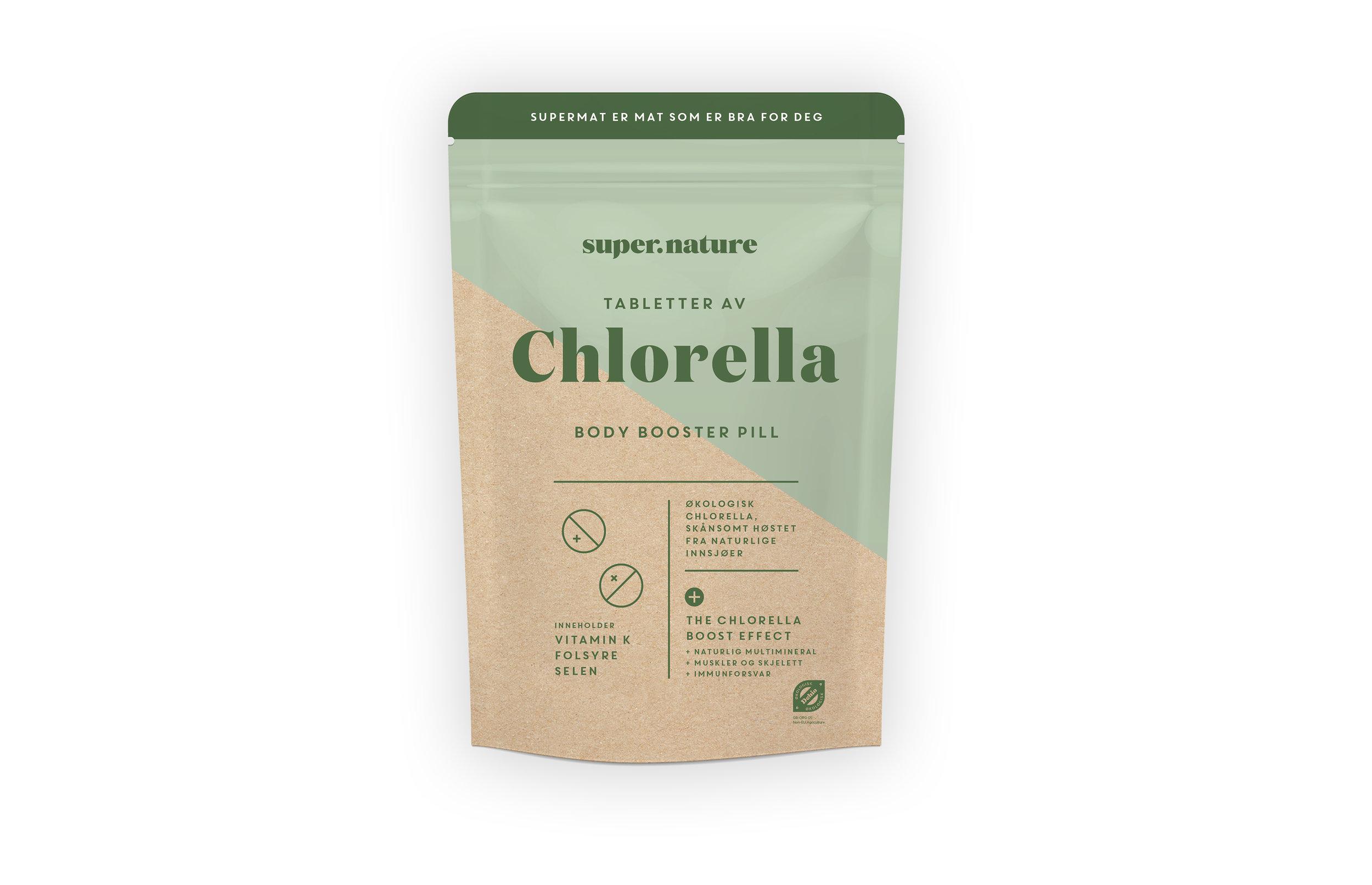 Chlorella-tabletter -