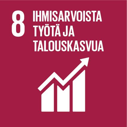 YK:n kestävän kehityksen tavoitteet Kuusamon Juusto Ihmisarvoista työtä ja talouskasvua