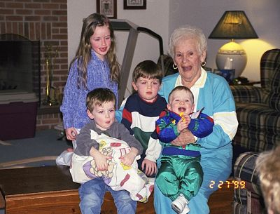I have a series of these photos and they are some of my favorites. Not because they are really the best, but because they are the last photos I have of my Mommom before she died. My intuition told me I just needed to get a photo of her with all my kids right away. I'm so glad I did. She passed 2 months later.