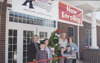 As our children grew and became more involved in various sports and activities, it started to become clear that working mall hours, 7 days a week, 52 weeks a year wasn't working for Dwight  and the family anymore. So, after much research, we decided to build and open a Kiddie Academy franchise. Watching those sweet little babies grow up has been so rewarding.