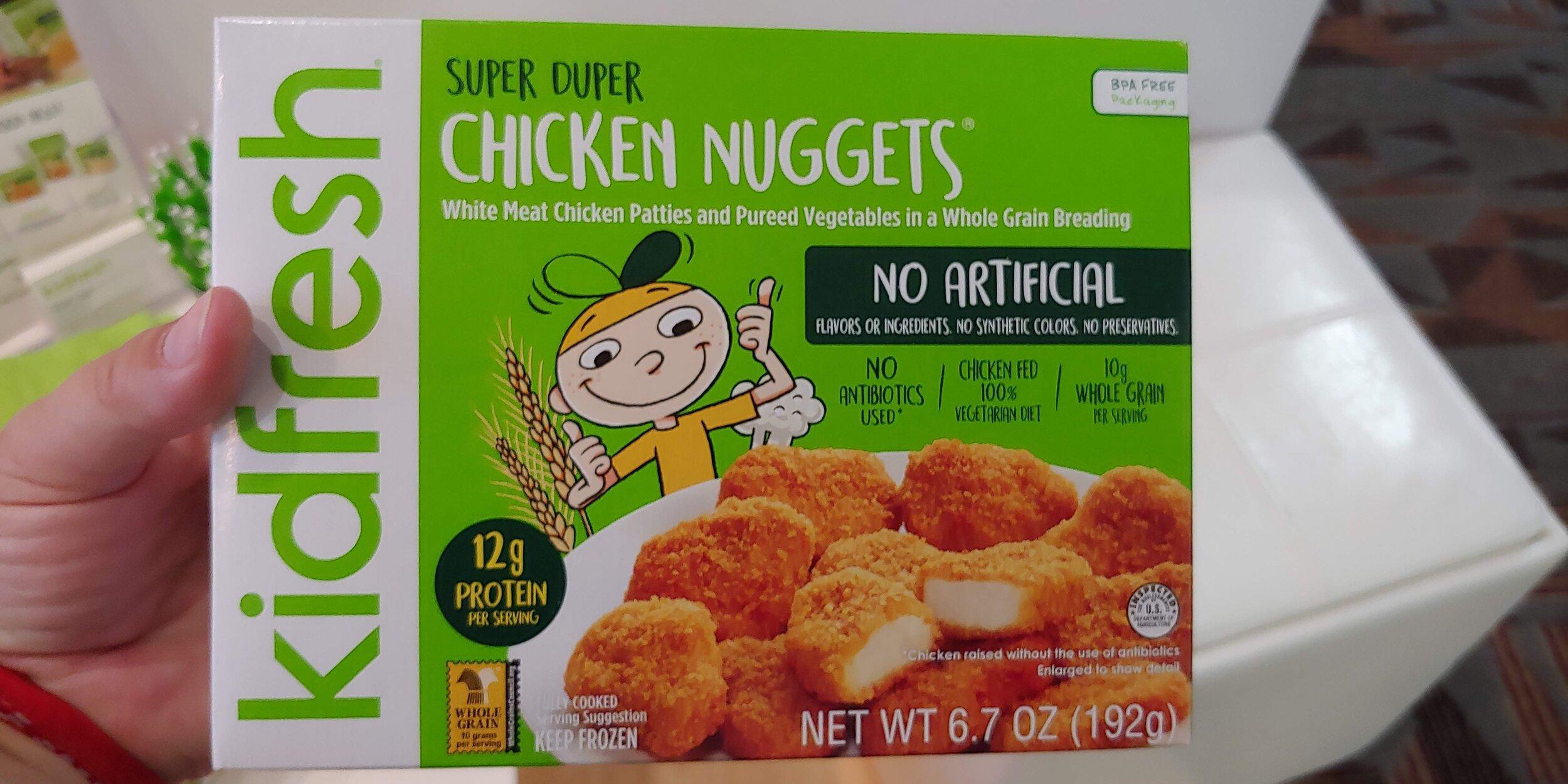 Hidden veggies in chix nuggest for picky kids
