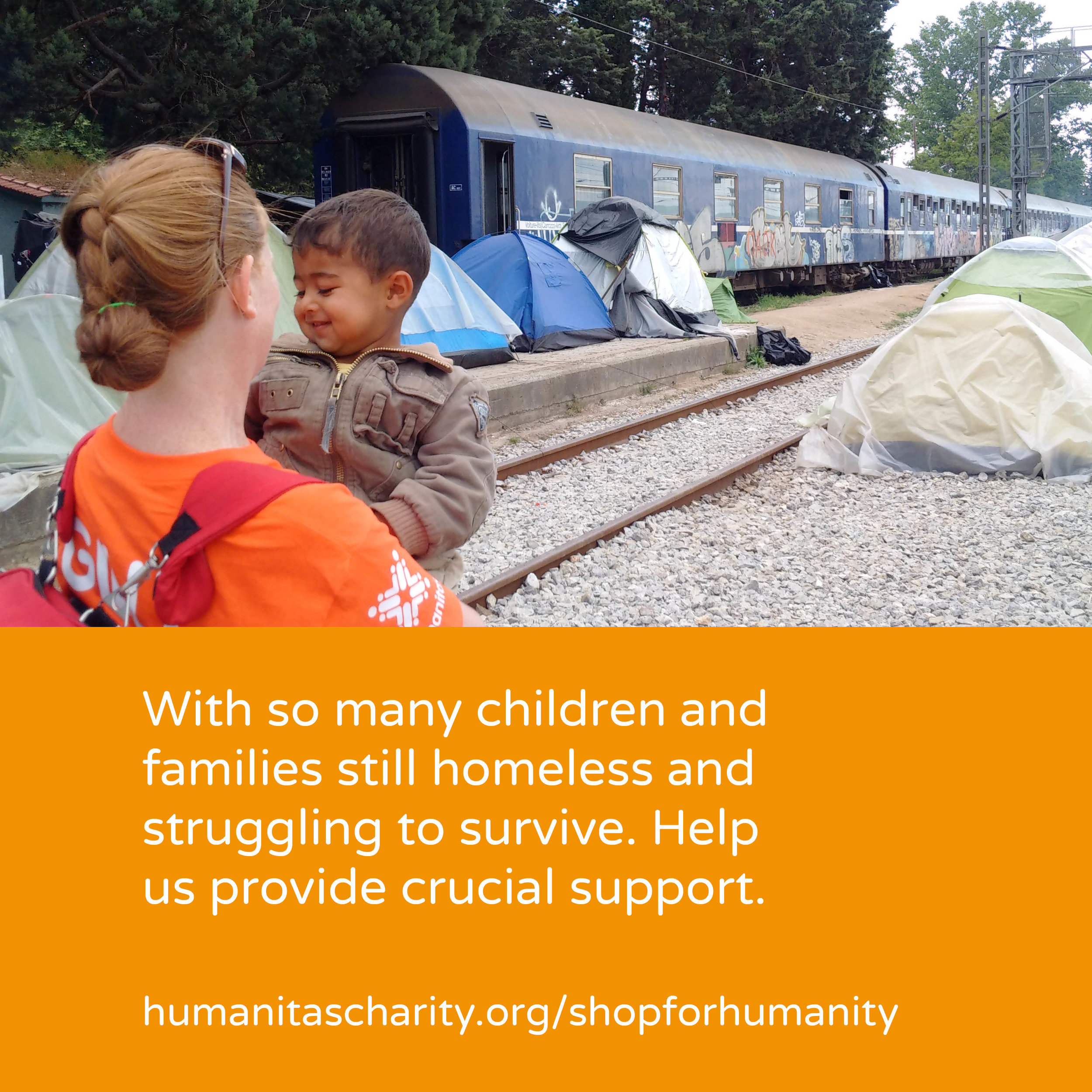 - We developed and launched #ShopForHumanity. A innovative new way of giving where you choose exactly how Humanitas uses your donation. By buying items that are sent to individuals in need around the world. You decide how you want to help improve lives. From a winter coat for an orphaned child in Romania, to books for schools in Ghana or medical support for refugees. An online shop where what you add to your cart is purchased and given out on behalf of the charity.