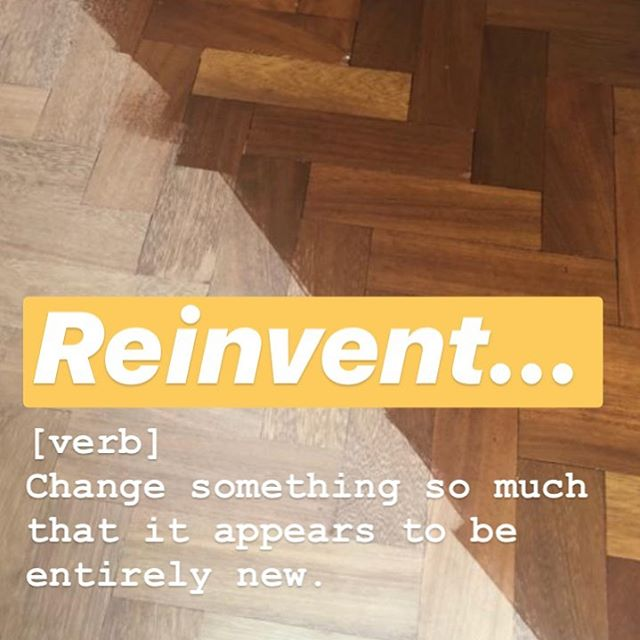 Recycle | Revamp | Reinvent  We love what we do here, especially if we can breathe new life into tired floors. We can sand and seal your old floors to totally reinvent a space... #revampfloors #lookingaftertomorrow #newlife #woodfloor #bona #osmo #reinvent
