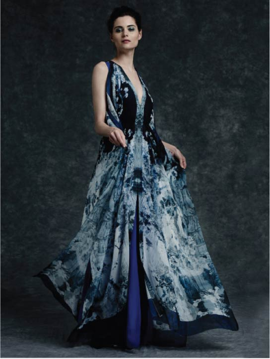 MENG Womenswear Cinderella Collection Campaign Shot Blue Gown