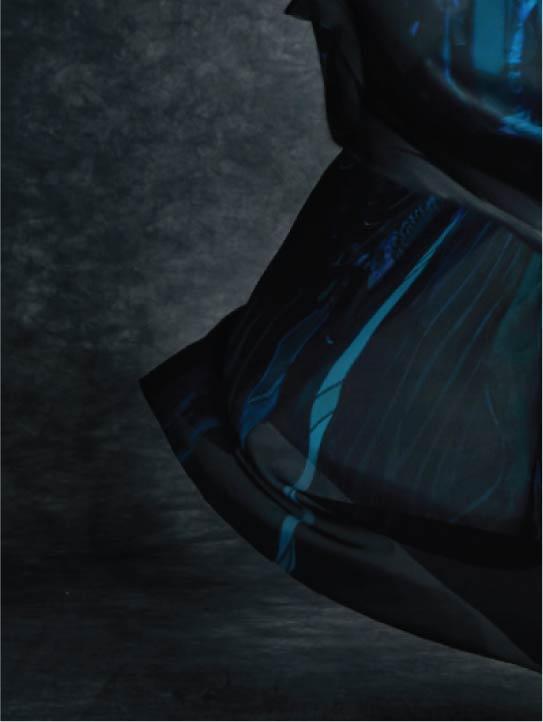 Subtle Details MENG Womenswear Blue Silk Close Up