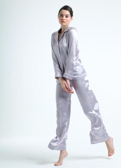 MENG Pastel Silk Pyjama Set