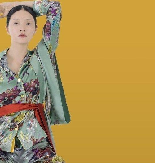Meng womenswear loungwear luxury silk printed kimono Pajama set-PP.jpg