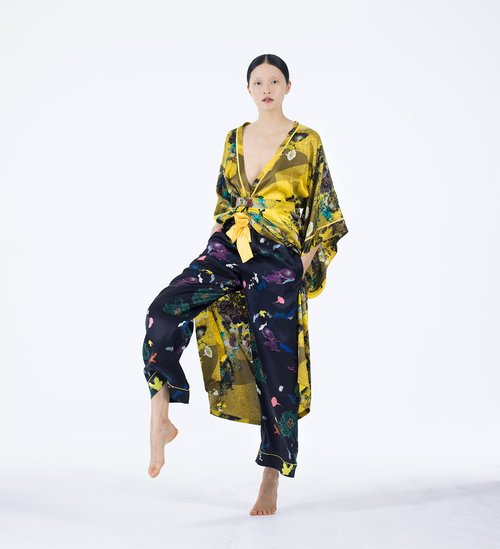 Meng womenswear loungwear luxury silk printed kimono trouser 3-PP.jpg