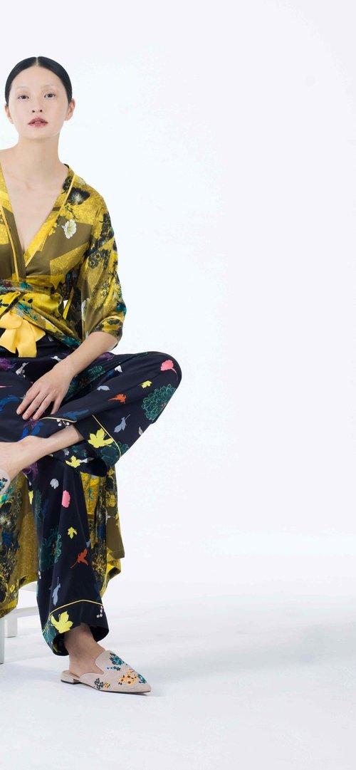 Meng womenswear loungwear luxury silk printed kimono trouser 5-PP.jpg