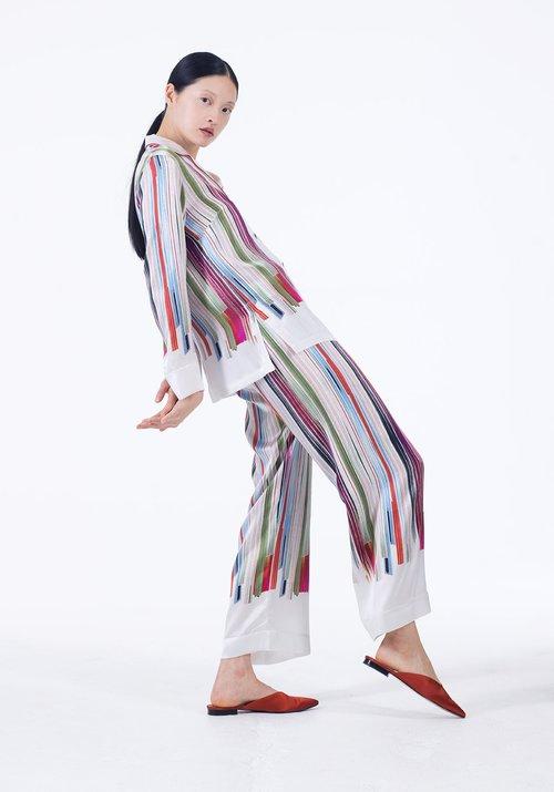 Meng womenswear loungwear luxury silk printed pajama set white stripe 1-PP.jpg