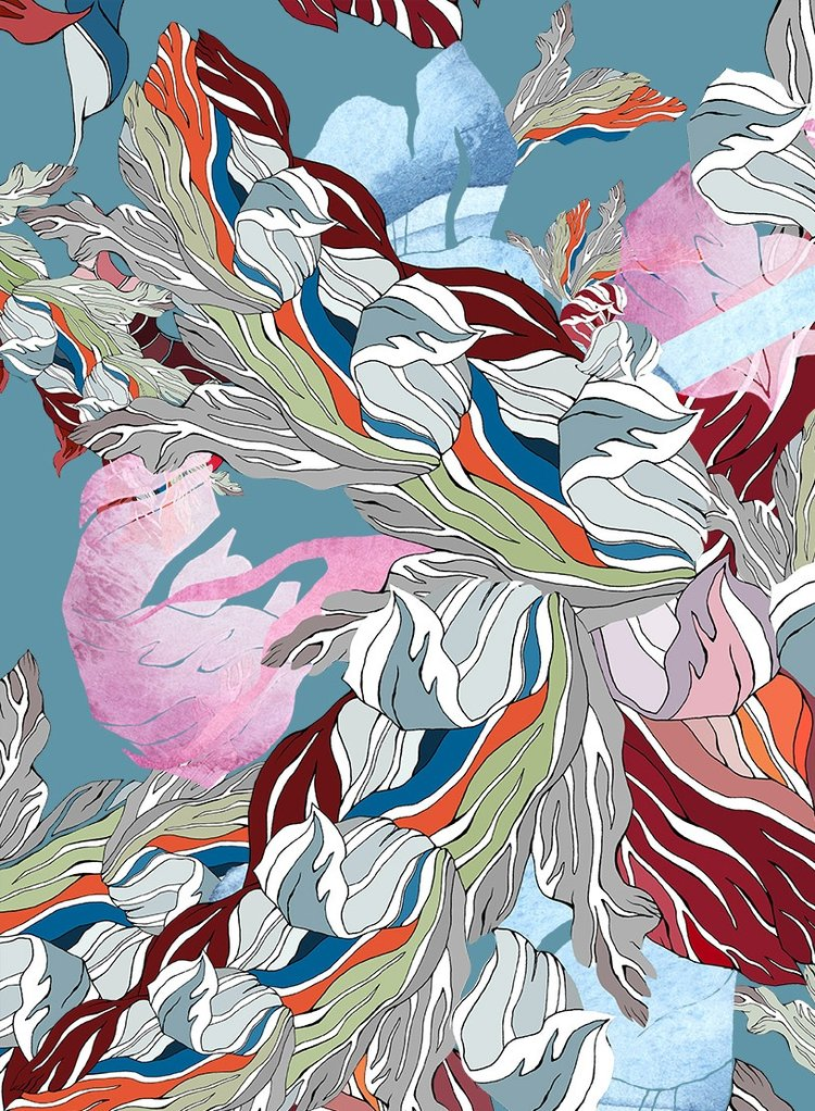 Meng-Loungewear-luxury-printed-silk-art-oriental-watercolour-turquoise-red-RF.jpg